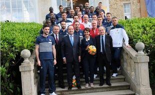 Quand François Hollande était passé encourager les Bleus en 2014. Capture d'écran