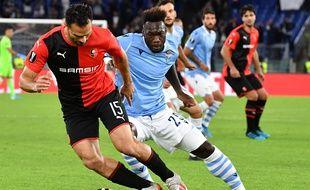 Jérémy Morel donne l'avantage au Styade Rennais face à la Lazio.