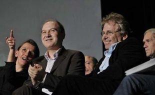 Meeting de Denis Baupin, candidat Vert a la municipale de Paris de mars 2008, au theatre Dejazet, en presence de Daniel Cohn-Bendit et Yves Cochet.  Paris, le 3 mars 2008.  Credit : Sebastien ORTOLA