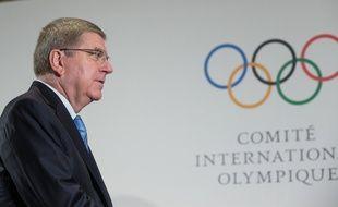 Le président du CIO Thomas Bach, lors d'une réunion à Lausanne le 20 janvier 2018.