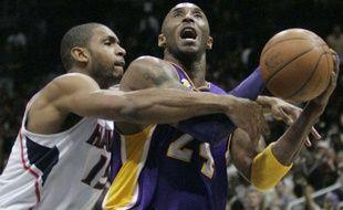 Kobe Bryant, lors d'un match de NBA à Atlanta, le 8 mars 2011.