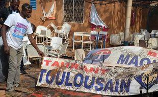 Le maquis Le Toulousain à Niamey, le 17 janvier.