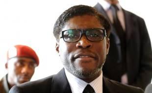 Teodorin Obiang le 24 janvier 2012 à Bata en Guinée équatoriale
