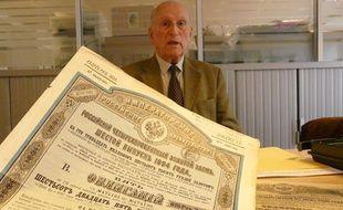 Pierre de Pontbriand, porteurs d'emprunts russes, dans les locaux de 20 Minutes, le 11 octobre 2013.