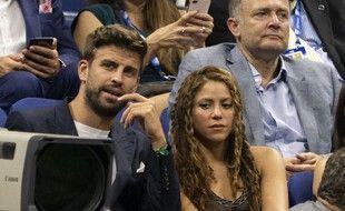 Gerard Pique et Shakira à l'US Open en 2019.