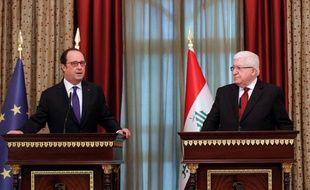 François Hollande est en visite à Bagdad le 2 janvier 2017
