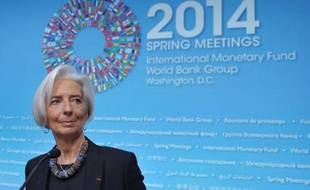 La directrice générale du FMI, Christine Lagarde, à Washington le 10 avril 2014