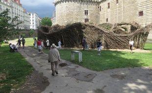 A Nantes le 29 juin 2014 - Le voyage a Nantes 2014, dans les douves du chateau