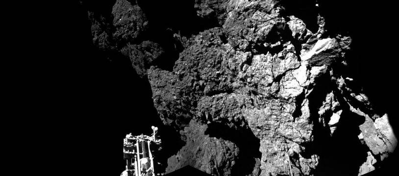 Image prise par Rosetta lors de l'atterrissage de Philae le 13 novembre 2014