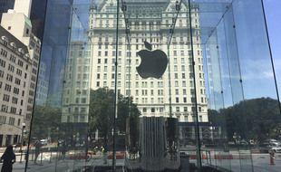 L'Apple Store de New York sur la Fifth Avenue.