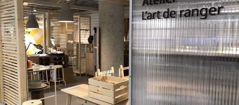 Les rayons du nouvel Ikea à la Madeleine à Paris.