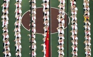 Rentrée scolaire pour ces jeunes Chinois, le 3 septembre 2018.