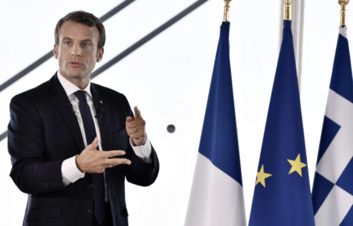 Emmanuel Macron à Athènes  – Louisa Gouliamaki/AP/SIPA