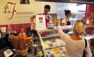 La Fraiseraie dispose de trois magasins à Nantes, comme celu de la place de la Bourse