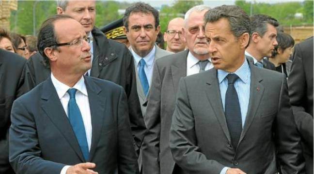 DSK et Guérini pour Hollande, Karachi et Bettencourt pour Sarkozy. Les affaires empoisonnent le PS comme l'UMP. –  P. WOJAZER / REUTERS