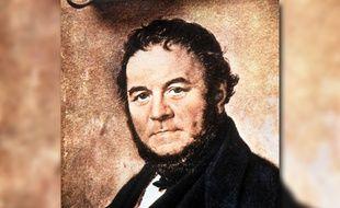 Stendhal (1783-1842) portrait par Sodermark - Conservation: Musée Romantique