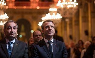François Clavairoly avec Emmanuel Macron, le 22 septembre 2017.