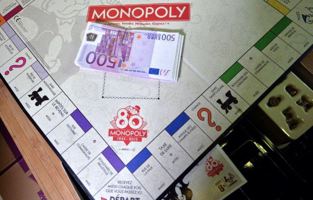 Illustration du jeu Monopoly. – PATRICK HERTZOG / AFP