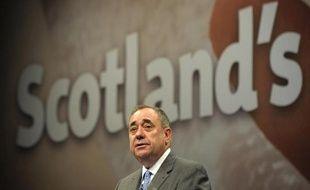 Le Premier ministre écossais Alex Salmond lors d'une conférence de presse, le 11 septembre 2014 à Edimbourg