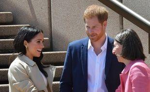 Meghan Markle, duchesse de Sussex, son mari le prince Harry et Gladys Berejiklian, la Première ministre de la Nouvelle-Galles du Sud, à la Sydney Opera House