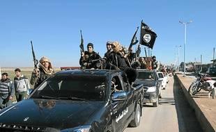 Photo de propagande de combattants djihadistes en Syrie, publiée le 4 mai.