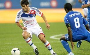 Le Lyonnais Yoann Gourcuff lors d'un match amical à Montreal au Canada, le 25 juillet 2012.