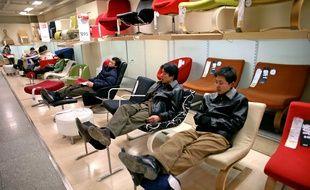En Chine, de nombreux clients profitent des magasins Ikea pour venir se reposer.