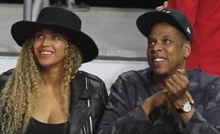 La chanteuse Beyoncé et son mari, le rappeur Jay-Z