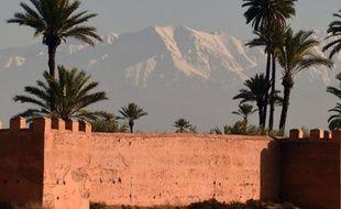 Une vue de Marrakech au Maroc.