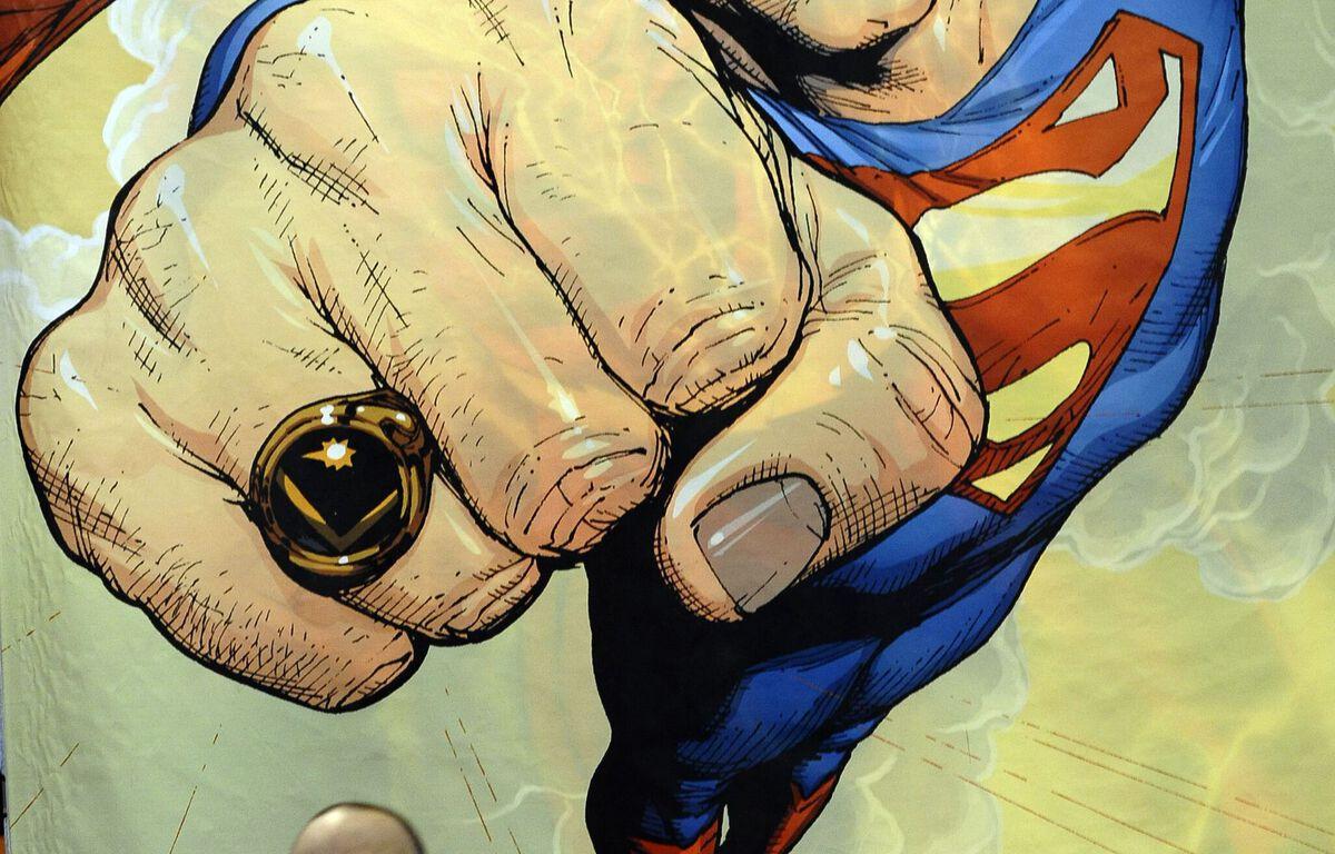 Une affiche de Superman au Comic Con de New York, en 2010. – TIMOTHY A. CLARY / AFP