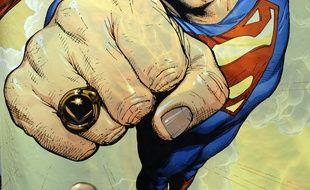 Une affiche de Superman au Comic Con de New York, en 2010.