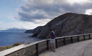Au Cap Cerbère, dans les Pyrénées-Orientales.