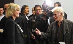 Guy Bedos et Nadine Morano au tribunal de Nancy le 7 septembre 2015  AFP PHOTO / JEAN-CHRISTOPHE VERHAEGEN