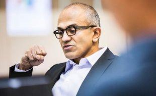 Le nouveau directeur général de Microsoft, Satya Nadella.