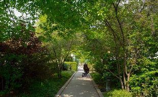 La promenade plantée, ou Coulée verte, dans le 12e arrondissement de Paris.