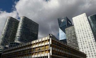 Des immeubles à la Défense le 1er avril 2015 à Paris