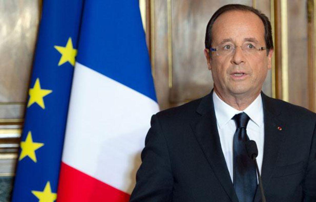 François Hollande à Tulle, le 09 juin 2012. – BERTRAND LANGLOIS / POOL / AFP