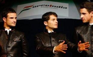 L'Italien Giancarlo Fisichella et l'Allemand Adrian Sutil piloteront les monoplaces de la nouvelle écurie de Formule 1 Force India (ex-Spyker) lors de la saison 2008, a annoncé l'écurie lors de la présentation de son effectif jeudi à Bombay.