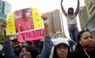 Marche en hommage à Freddie Gray dans les rues de Baltimore (Maryland), le 25 avril 2015