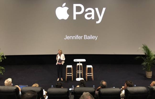 Jennifer Bailey, vice-présidente monde Apple Pay au Pathé Beaugrenelle à Paris le 25 juin 2019.
