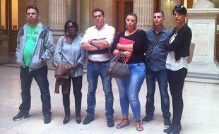 Six des 48 employés des magasins Dia rachetés par Gastt au groupe Carrefour.