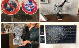 Plusieurs oeuvres de l'expo