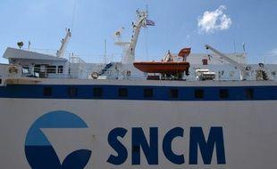 Un navire de la SNCM dans le port de Marseille.