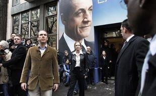 Nathalie Kosciusko-Morizet à l'inauguration du QG de campagne de Nicolas Sarkozy à Paris le 18 février 2012.