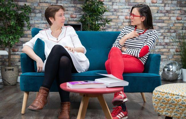 Caroline De Haas et Aude Lorriaux dans les locaux de « 20 Minutes »