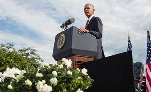 Barack Obama a tenu un discours depuis le Pentagone le 11 septembre 2016.