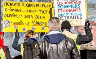 Une manifestation contre la réforme des retraites, à Toulouse le 6 février 2020.