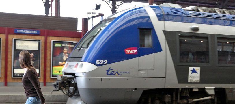Illustration. Un TER en gare de Strasbourg.