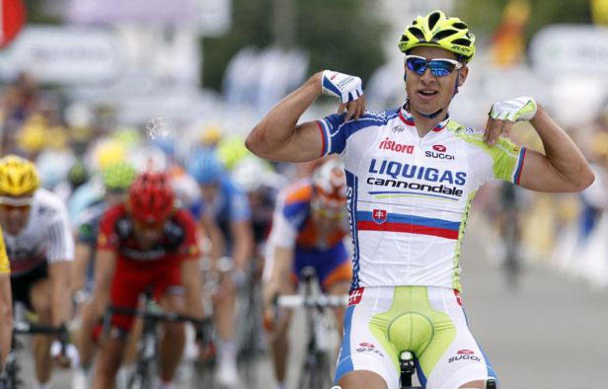 Le Slovaque Peter Sagan, lors de sa victoire sur la première étape du Tour de France, le 1er juillet 2012 à Seraing (Belgique). – J.P.Pelissier/REUTERS