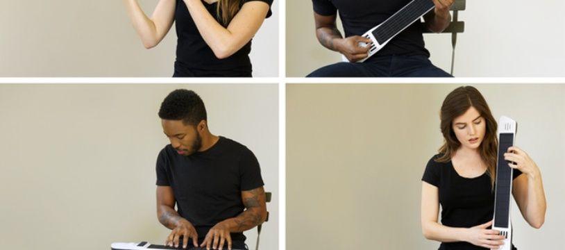 L'Artiphon, un clavier sur un manche de guitare...